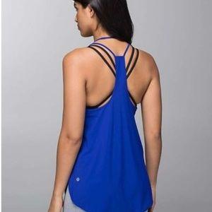 Lululemon | Coastal Tank Pigment Blue UPF  Fabric